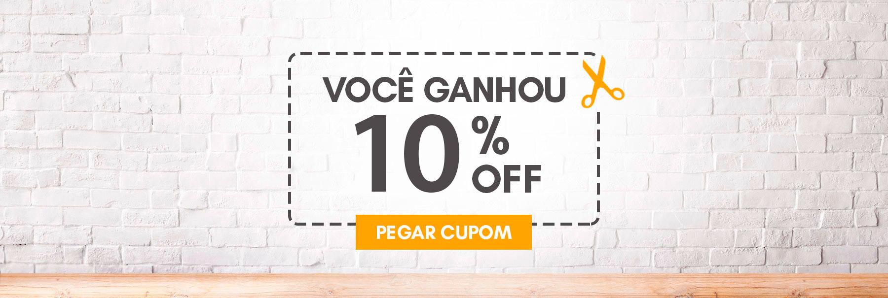Banner Cupom 10%OFF
