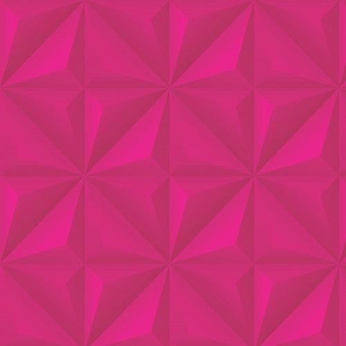 Papel De Parede Adesivo Efeito Gesso 3D - Gesso Triangular Pink