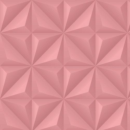 Papel De Parede Adesivo Efeito Gesso 3D - Triângulos Laterais Rosa
