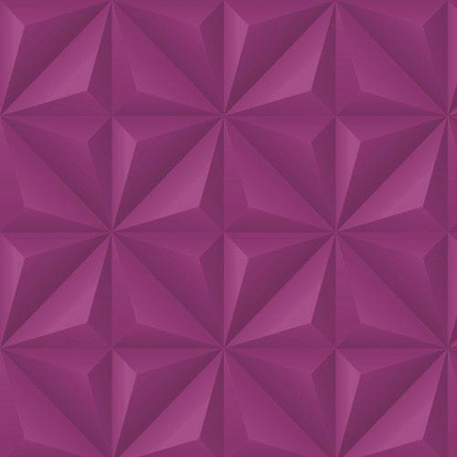 Papel De Parede Adesivo Efeito Gesso 3D - Gesso Triangular Roxo