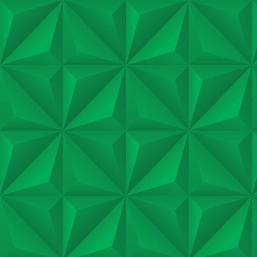 Papel De Parede Adesivo Efeito Gesso 3D - Gesso Triangular Verde