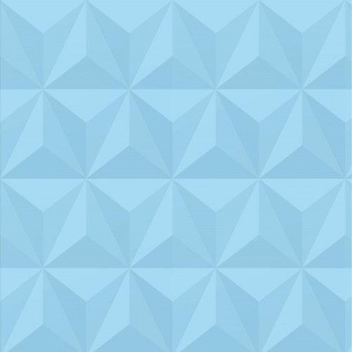 Papel De Parede Adesivo Efeito Gesso 3D - Triângulos Laterais Azul Bebê