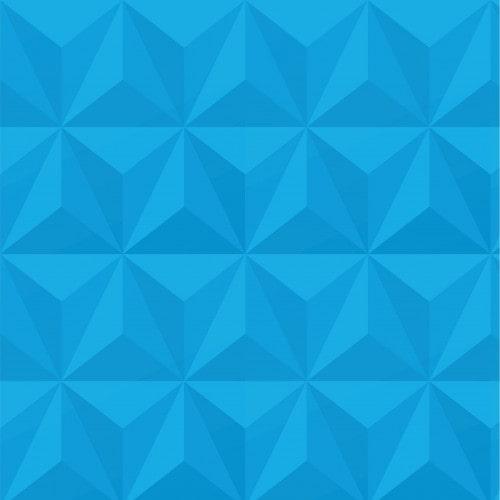 Papel De Parede Adesivo Efeito Gesso 3D - Triângulos Laterais Azul Céu