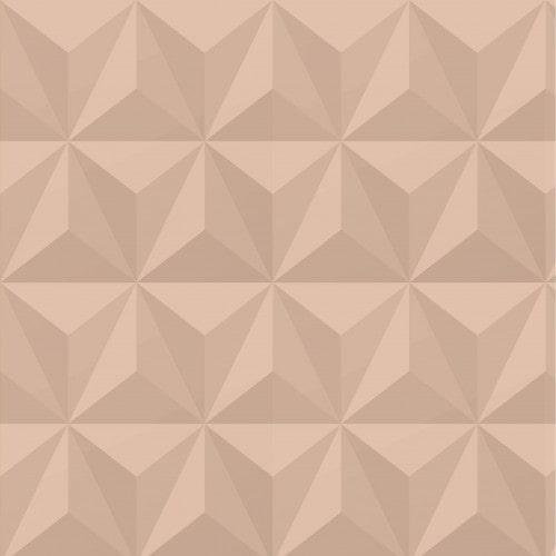 Papel De Parede Adesivo Efeito Gesso 3D - Triângulos Laterais Nude