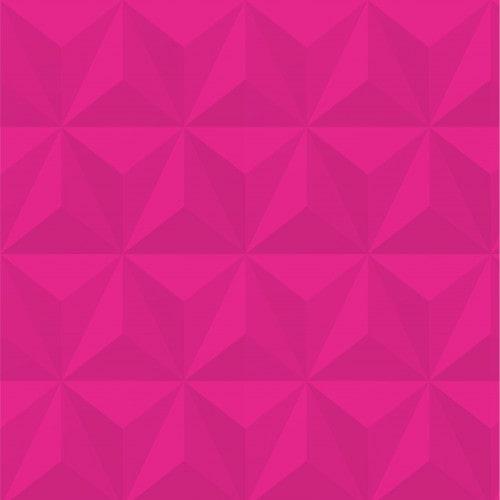 Papel De Parede Adesivo Efeito Gesso 3D - Triângulos Laterais Pink
