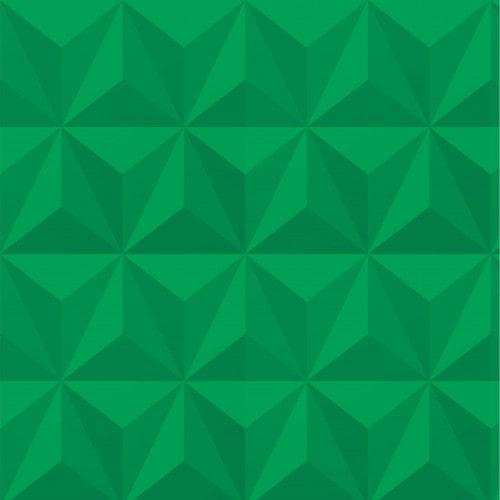 Papel De Parede Adesivo Efeito Gesso 3D - Triângulos Laterais Verde