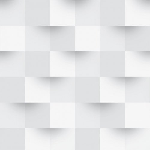 Papel De Parede Adesivo Efeito Gesso 3D - Ladrilho Branco Gelo