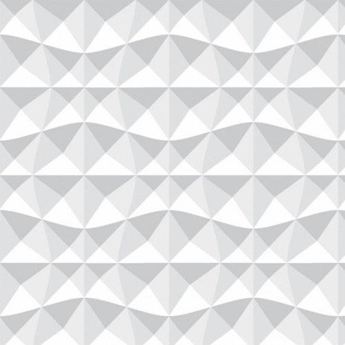 Papel De Parede Adesivo Efeito Gesso 3D - Abstrato Sombras Branco Gelo