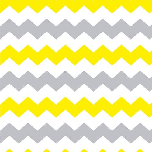 Papel De Parede Adesivo Chevron - Chevron Listras Grandes Zigzag Amarelo Cinza