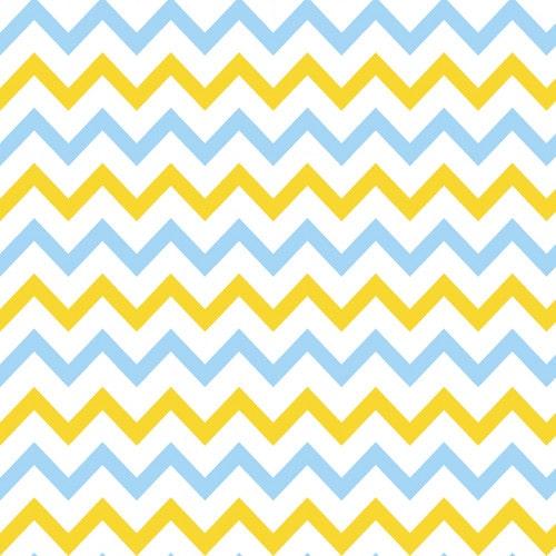 Papel De Parede Adesivo Chevron - Chevron Listras Zigzag Amarelo Azul