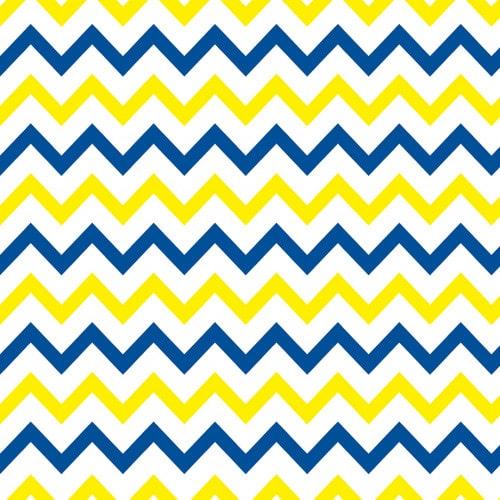 Papel De Parede Adesivo Chevron - Chevron Listras Zigzag Amarelo Azul Escuro