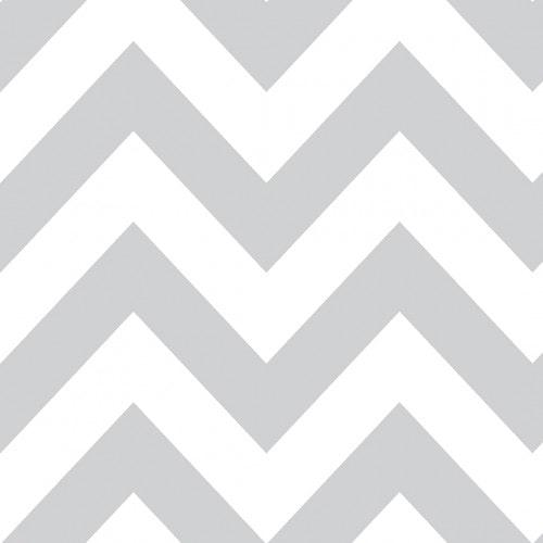 Papel De Parede Adesivo Chevron - Chevron Listras Grandes Zigzag Branco Cinza