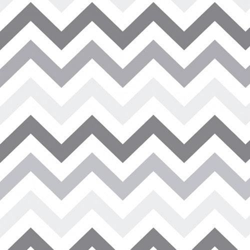 Papel De Parede Adesivo Chevron - Chevron Listras Zigzag Cinza Claro Cinza Escuro