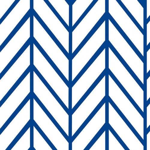 Papel De Parede Adesivo Chevron - Chevron Listras Vertical Azul Branco