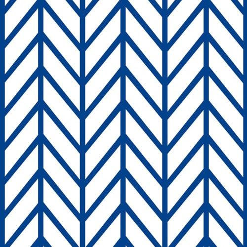 Papel De Parede Adesivo Chevron - Chevron Énico Azul E Branco