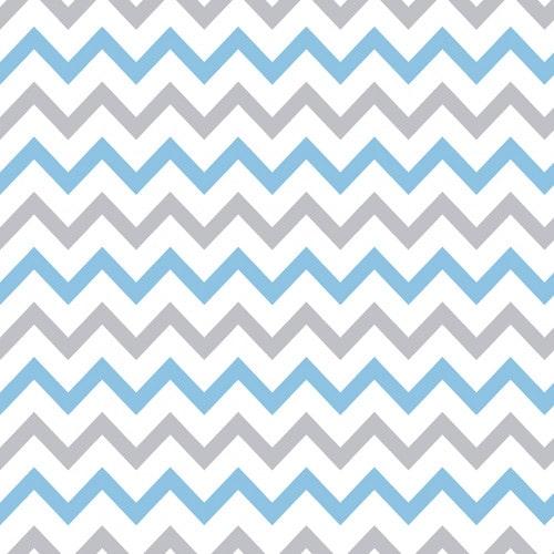 Papel De Parede Adesivo Chevron - Chevron Listras Zigzag Azul Cinza