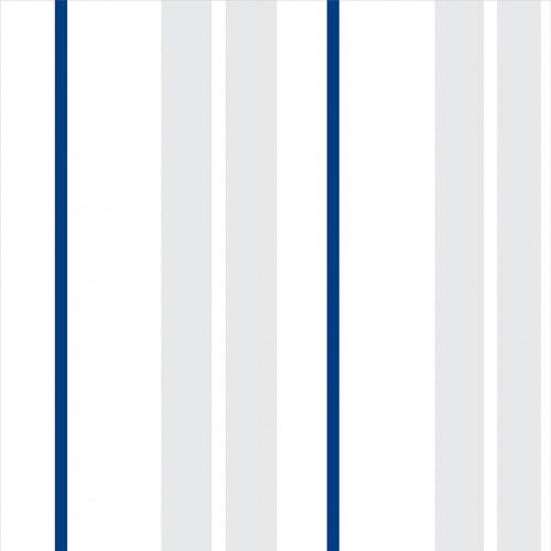 Papel De Parede Adesivo Listrado - Listras Azul Cinza