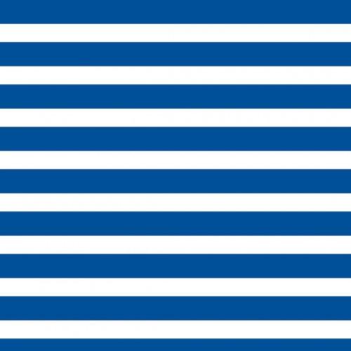Papel De Parede Adesivo Listrado - Listras Azul Branco Horizontal
