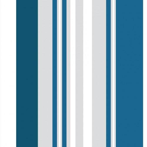 Papel De Parede Adesivo Listrado -Listras Azul Cinza Branco