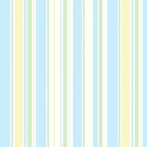 Papel De Parede Adesivo Listrado -  Listras Azul Claro Amarelo