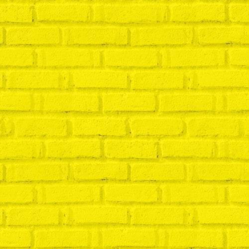 Papel De Parede Adesivo 3d Tijolo - Tijolinho Amarelo