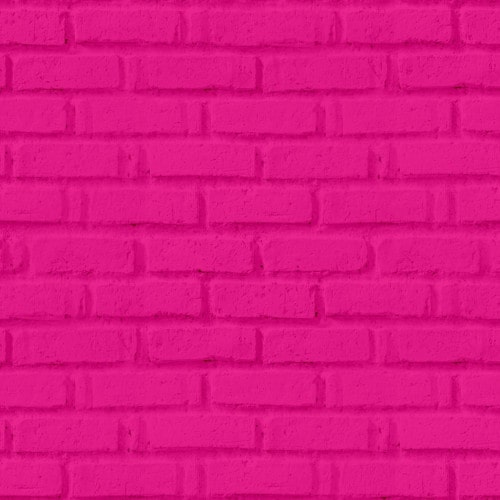 Papel De Parede Adesivo 3d Tijolo -  Tijolinho Rosa Pink