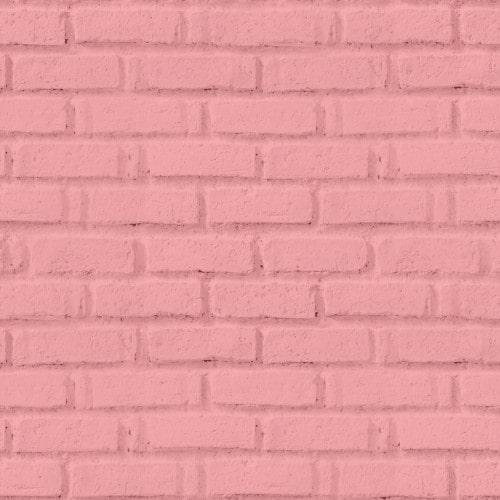 Papel De Parede Adesivo 3d Tijolo -  Tijolinho Rosa Rose