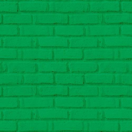 Papel De Parede Adesivo 3d Tijolo -  Tijolinho Verde Bandeira