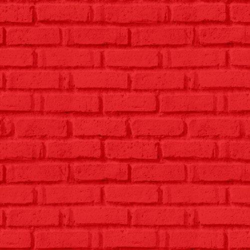 Papel De Parede Adesivo 3d Tijolo -  Tijolinho Vermelho Vivo