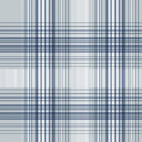 Papel De Parede Adesivo Xadrez -  Xadrez Tons Mesclados Azul Cinza