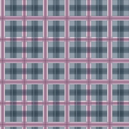 Papel De Parede Adesivo Xadrez -  Xadrez Cinza Contorno Rosa