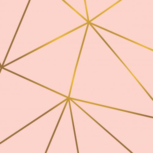 Papel De Parede Adesivo Vinílico Zara - Zara Rose Gold Dourado