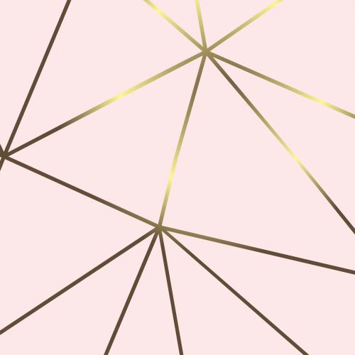 Papel De Parede Adesivo Vinílico Zara - Zara Rosa Bebe Risco Gold