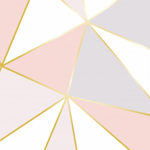 Papel De Parede Adesivo Vinílico Zara -  Zara Fendi Rosa Branco Cinza