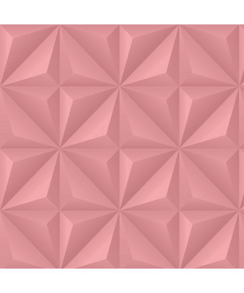Papel De Parede Adesivo Efeito Gesso 3D - Gesso Triangular Rosa