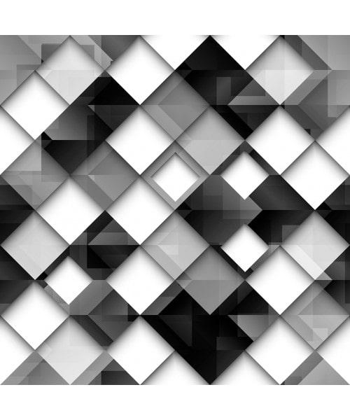 Papel De Parede Adesivo Geométrico - Geométrico Efeito Vidro Preto