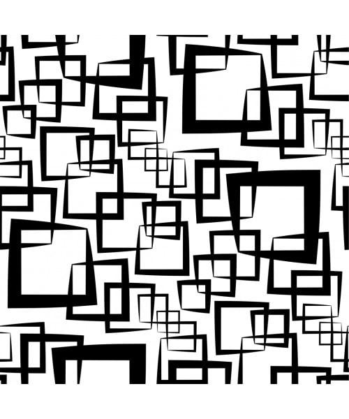 Papel De Parede Geométrico - Geométrico Quadrados pretos