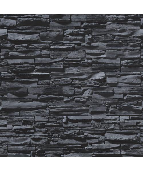 Papel De Parede Adesivo 3d Pedra - Canjiquinhas Pretas