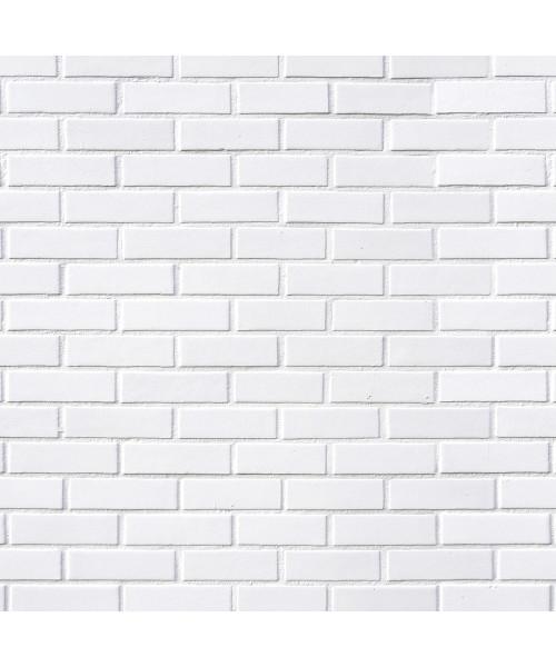 Papel De Parede Adesivo 3d Tijolo - Tijolinho a Vista Branco Liso Clássico