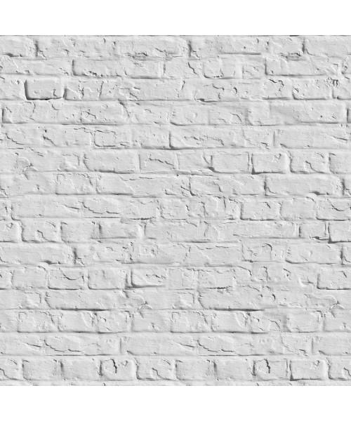 Papel De Parede Adesivo 3d Tijolo - Tijolinho a Vista Rústico Branco Gelo