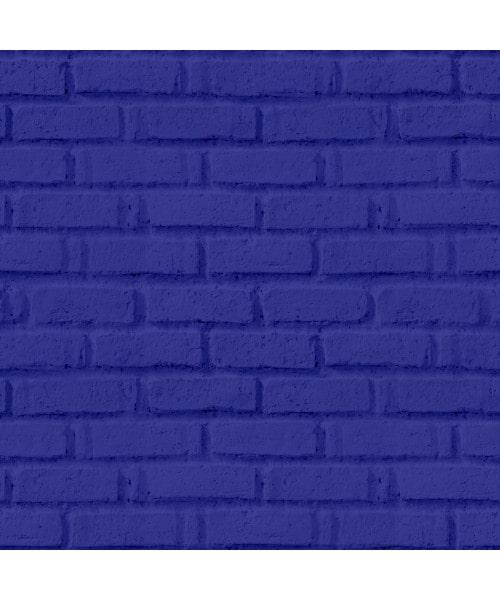Papel De Parede Adesivo 3d Tijolo - Tijolinho Azul Marinho