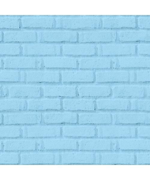 Papel De Parede Adesivo 3d Tijolo - Tijolinho Azul Claro