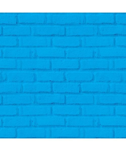 Papel De Parede Adesivo 3d Tijolo - Tijolinho Azul Céu