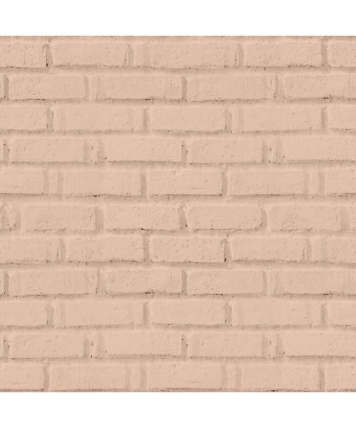 Papel De Parede Adesivo 3d Tijolo -  Tijolinho Rosa Nude