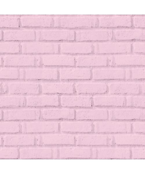 Papel De Parede Adesivo 3d Tijolo -  Tijolinho Rosa Bebe Claro
