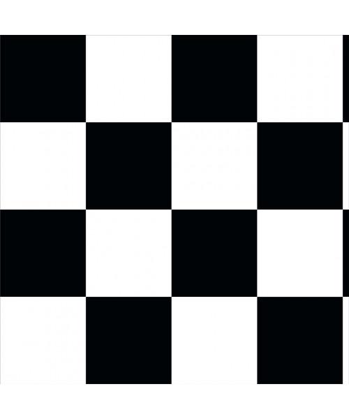 Papel De Parede Adesivo Xadrez -  Xadrez  Preto Branco