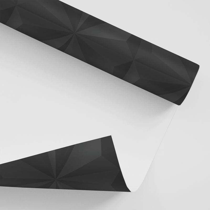 Papel De Parede Adesivo Efeito Gesso 3D - Gesso Triangular Preto