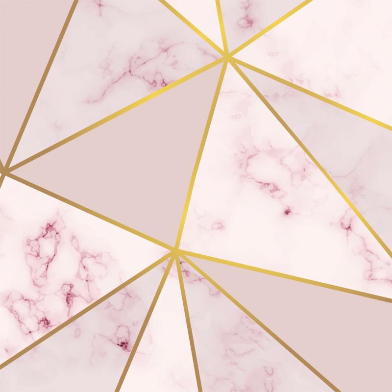 Papel De Parede Adesivo Vinílico Zara - Zara Fendi Rose Gold